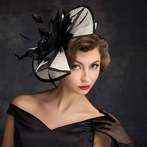 Accessoires Noir Scène Net Cheveux Blanc Set De Photo Rétro Ads Coiffure Chapeau Tir Spectacle Plumes Podium aWHY4XXq