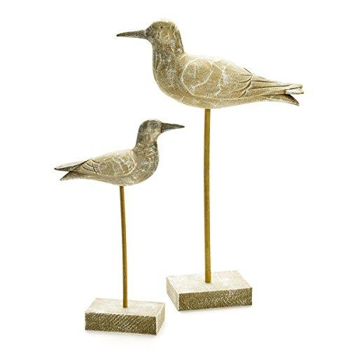 Thompson & Elm Seagulls on Stand (Set of 2)