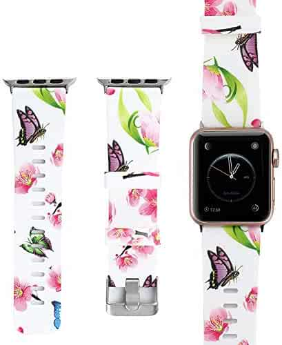 Sport Band Watch Band 38mm 42mm 40mm 44mm Soft Silicone Replacement for iWatch Series 4 3 2 1 Nike+