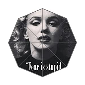 Generic with Marilyn Monroe Easy Carry With Auto Foldable Rainy Sunny Gifts Totes Compact Custom Umbrella