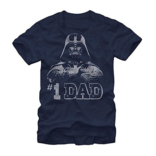 Star Wars #1 Dad Darth Vader Father's Day T-Shirt - Navy (X-Large)