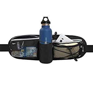Ryaco [Water bottle pocket] R905 Hydration Running belt, Outdoor Sports Reflective Waist Pack, Fitness Workout Belt, Race Belt, Fanny Pack, Workout Pouch for iPhone 7/7 Plus,6S/6S Plus,5/5S/SE