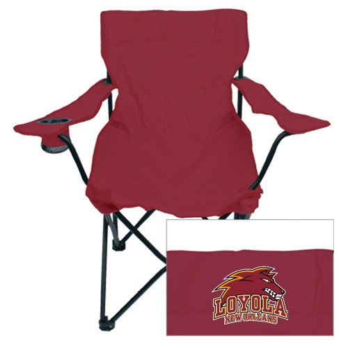 CollegeFanGear Loyola New Orleans Deluxe Maroon Captains Chair 'Official Logo' by CollegeFanGear