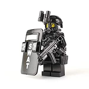 Battle Brick SWAT Police Officer Pointman (SKU50) Custom Minifigure