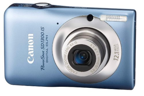 (Canon PowerShot SD1300IS 12.1 MP Digital Camera with 4x Wide Angle Optical Image Stabilized Zoom and 2.7-Inch LCD (Blue) (OLD)