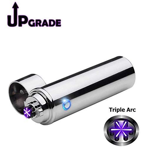 Triple Arc Lighter Plasma Arc Lighter USB Cigar Lighter Windproof Electric Lighter Electric Pipe Lighter