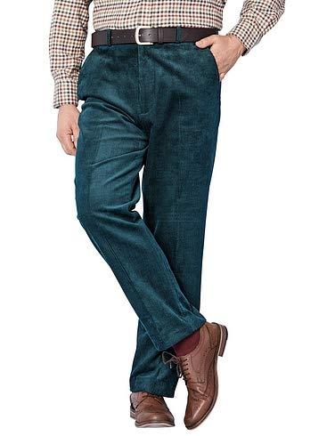 TALLA 32W / 27L. Chums Pantalones de Pana de Algodón con Pretina Oculta, para Hombre