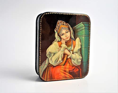 (Fedoskino Lacquered Miniature Box,
