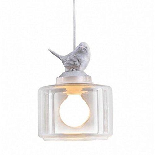 Amazon 1 light white bird modern glass pendant lamp light for 1 light white bird modern glass pendant lamp light for kids room aloadofball Gallery