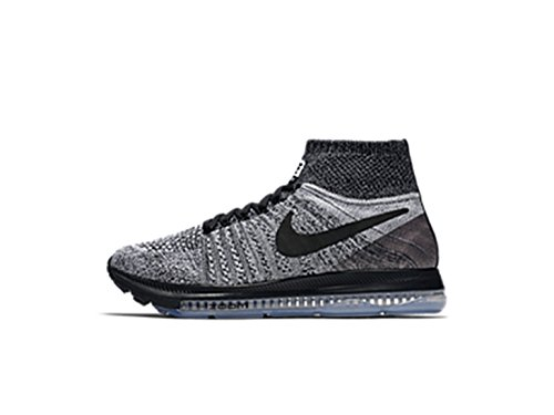 Nike Womens Zoom All Out Scarpe Da Corsa Flyknit Grigio / Nero