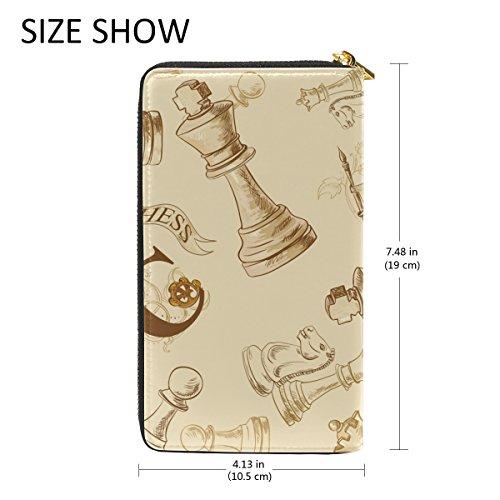 Zip And Purses Organizer Wallet Womens Retro Chess Around Handbags Clutch TIZORAX 4O17q7