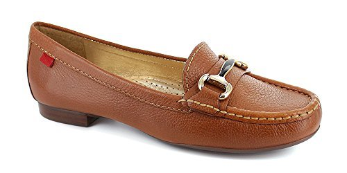Marc Joseph NY Women's Fashion Shoes Grand Street Tan Grainy Buckle Loafer Size 7.5 (More ()