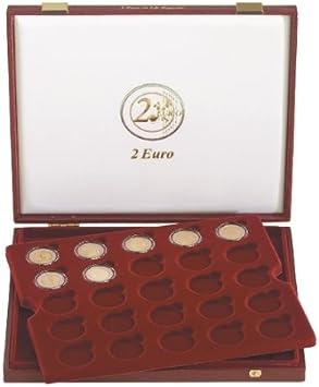 Estuche de lujo para monedas conmemorativas de 2 Euro en cápsulas [Lindner 2454], para 50 monedas conmemorativas de 2 Euro en cápsulas: Amazon.es: Bricolaje y herramientas
