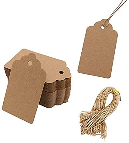 50 gift tags paper pendant hang tags price tags Lables labels natural,round,3,8 cm