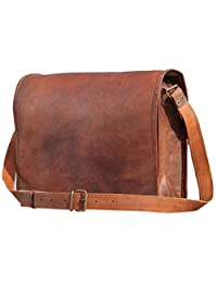 "Leather Bags I - Pad Bags Messenger Briefcase Crossover Shoulder Bag 11"""
