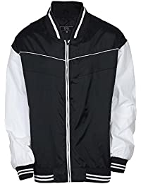Men's Big & Tall Full Zip Varsity Windbreaker Jacket