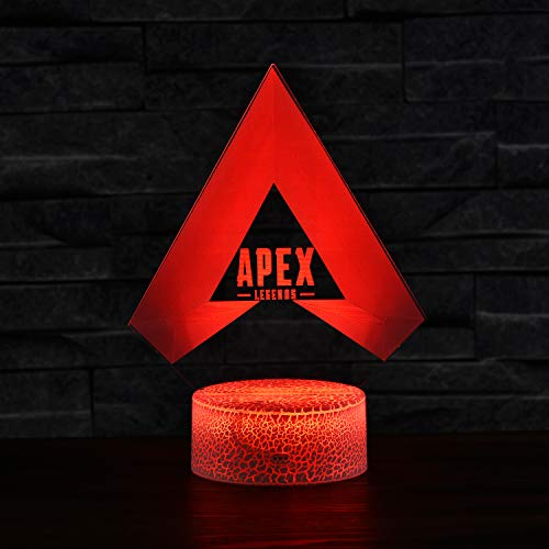 Apex Legends LED Lamp 7 Colors Night Light with Crack Base
