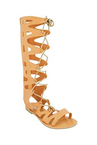 ShoeVibe Women Casey Gladiator Lace-Up Sandal