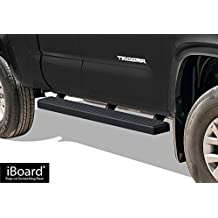 "Matte Black 4"" iBoard Running Boards Fit 05-17 Toyota Tacoma Access Cab Nerf Bar Side Steps Tube Rail Bars Step Board"