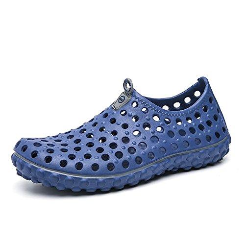 Hombre Libre Aire Sandalias el Moda Zapatos Vamp Azul para Agua Británica para para al Hueco Zuecos Caminar XEqx4wS