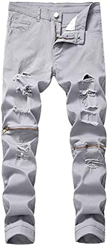 Emmay Jeanshose Męskiehosen Jeans Męskie Für Männer Washed Wesentlich Klassisch Męskiehose Męskiejeans Straight Slim Fit Stretch Hosen Verwaschen Used Vintage Look Mode Freizeithose Bootcut Hose: Odzie&