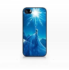 Elsa, Snow Queen, Disney Frozen-Iphone 5/5S Case Cover, Iphone 5/5S Case Cover, Hard Plasic, Black case SCC-IP4-003 BLACK