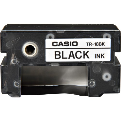 Pack of 10 Casio Black Ink Cartridge Ribbons for All CW Disc Title Printers, CW-50 and CW-75 CD Title Writers (TR-18BK) (Cd Disc Printer)