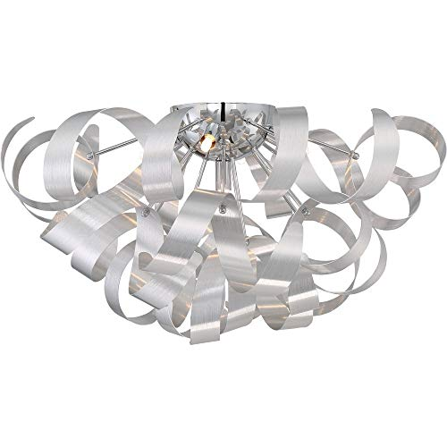 (Quoizel RBN1622MN Ribbons Modern Flush Mount Ceiling Lighting 5-Light, Xenon 200 Watts, Millenia (11