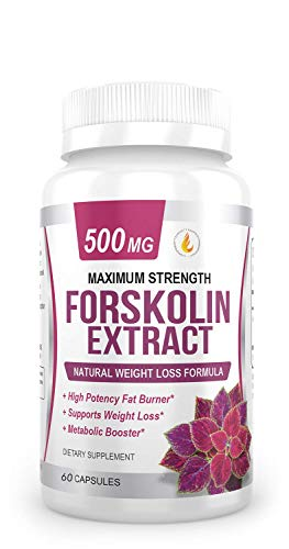 - PREMIUM FORSKOLIN EXTRACT, 500mg - 60 Capsules w/ 20% Standardized Forskolin, Non-GMO & Gluten Free, Appetite Suppressant, MAX Strength Belly Fat Burner, Carb Blocker, Weight Loss Supplement. USA Made