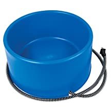 Farm Innovators P-60B 60-Watt Premium Heated Pet Dog & Cat Water Bowl Blue
