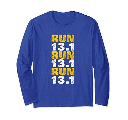 Unisex 13.1 Long Sleeve Shirt Women Half Marathon Running Shirt Small Royal - Sleeve Long Half