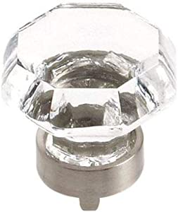 Amerock BP55268CG10 Traditional Classics 1-5/16 in. (33mm) Crystal Knob, Satin Nickel - Pack of Ten