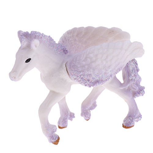 (MonkeyJack Realistic Science Plastic Animal Model Figure White Pegasus Figurine Children Kids Educational Toy Decoration Collectibles Kids Story Telling Props)