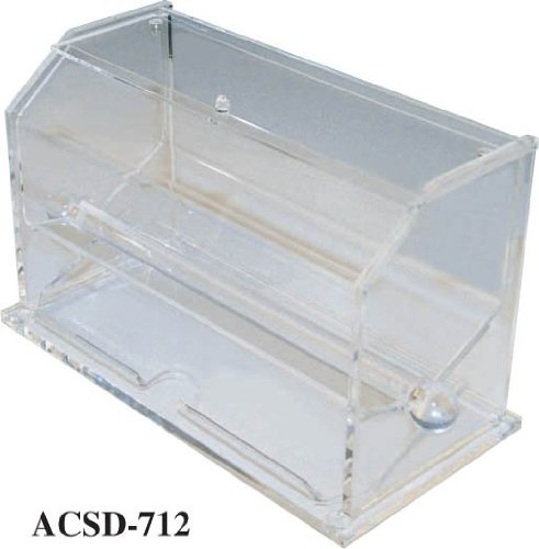 Winco ACSD-712 Acrylic Straw Dispenser by Winco