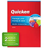 Quicken Deluxe 2019 Personal Finance & Budgeting Software [PC/Mac Disc] 1-Year Membership + 2 Bonus Months [Amazon Exclusive]