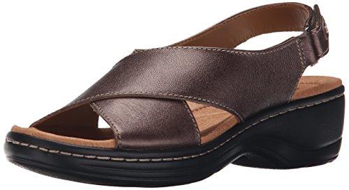 Clarks Women's Hayla Heaven Dress Sandal - Pewter - 9 C/D US