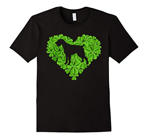 Irish Terrier In A Shamrock Heart - T-shirt Terrier History