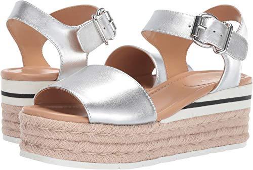 Nine West Women's Layla Espadrille Sandal Silver 7.5 M US