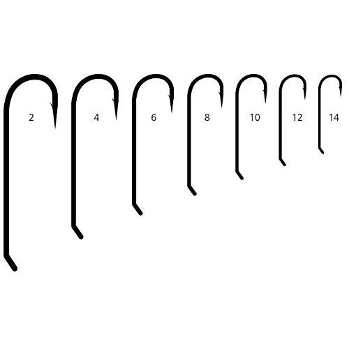 (Mustad STREAMER Signature Fly Hooks Size 8 50ct - R75NPBR850)