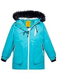 Wantdo Girls' Waterproof Ski Jacket Winter Rain Coat Parka Outdoor Jacket