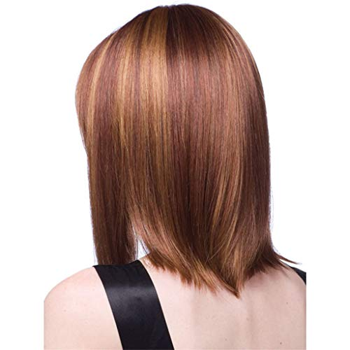 Euone Wig, Black Women Brown Natural Sexy Short Synthetic Wig Fashion Parting Wigs Rose Net]()