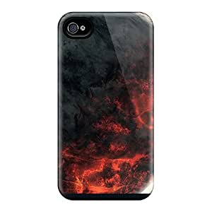 Tpu Case For Iphone 4/4s With Stars Planets Digital Art