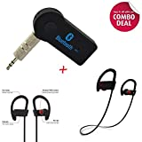 Xforia Wireless Bluetooth Receiver Adapter 3.5MM AUX Audio Stereo Music Home Hands free Car Kit with HBS-730 Bluetooth Stereo Headset HBS 730 Wireless Bluetooth Mobile Phone Headphone Earpod Sport Earphone with call functions
