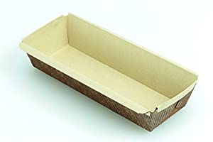 Premium Paper Baking Loaf Pan, Nonstick, Disposable, for Chocolate Cake, Banana Bread, Set of 100 - By Ecobake