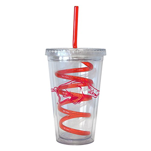NCAA Arkansas Razorbacks 16 oz Swirl Straw Tumbler with Lid