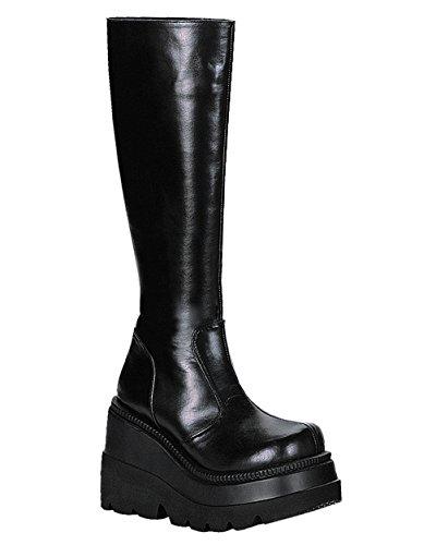 Inch 1/2 Knee Boot 4 (Demonia 4 1/2 Inch Trendy Platform Knee Boot Black Gothic Boot Size: 7)