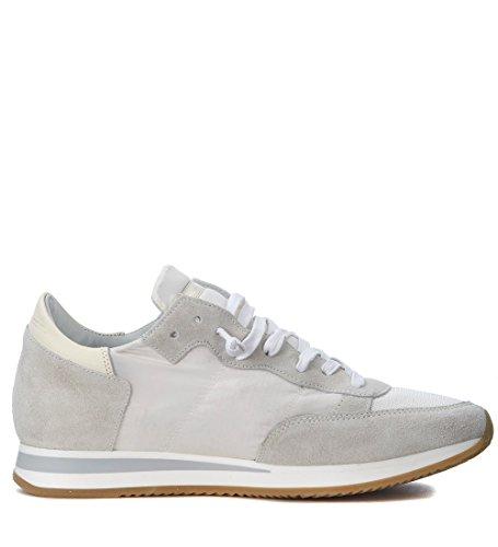 Philippe Modelo Hombres Tropez Mondial Beige Y Blanco Sneaker Blanco
