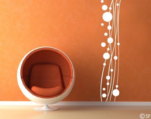 universumsum WandTattoo Dot Cenefa Wave uss251 Pared Decorativo para Pared, diseño Salón Dormitorio: Amazon.es: Hogar
