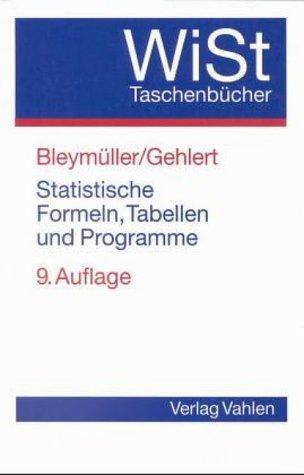 Statistische Formeln, Tabellen und Programme