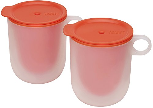 Joseph Joseph M-Cuisine Cool Touch Microwave Mug (Set of 2), Orange (Orange Mug With Lid compare prices)